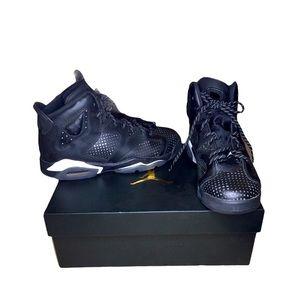 Air Jordan 6 Retro BG Youth 5.5 Sneakers Black